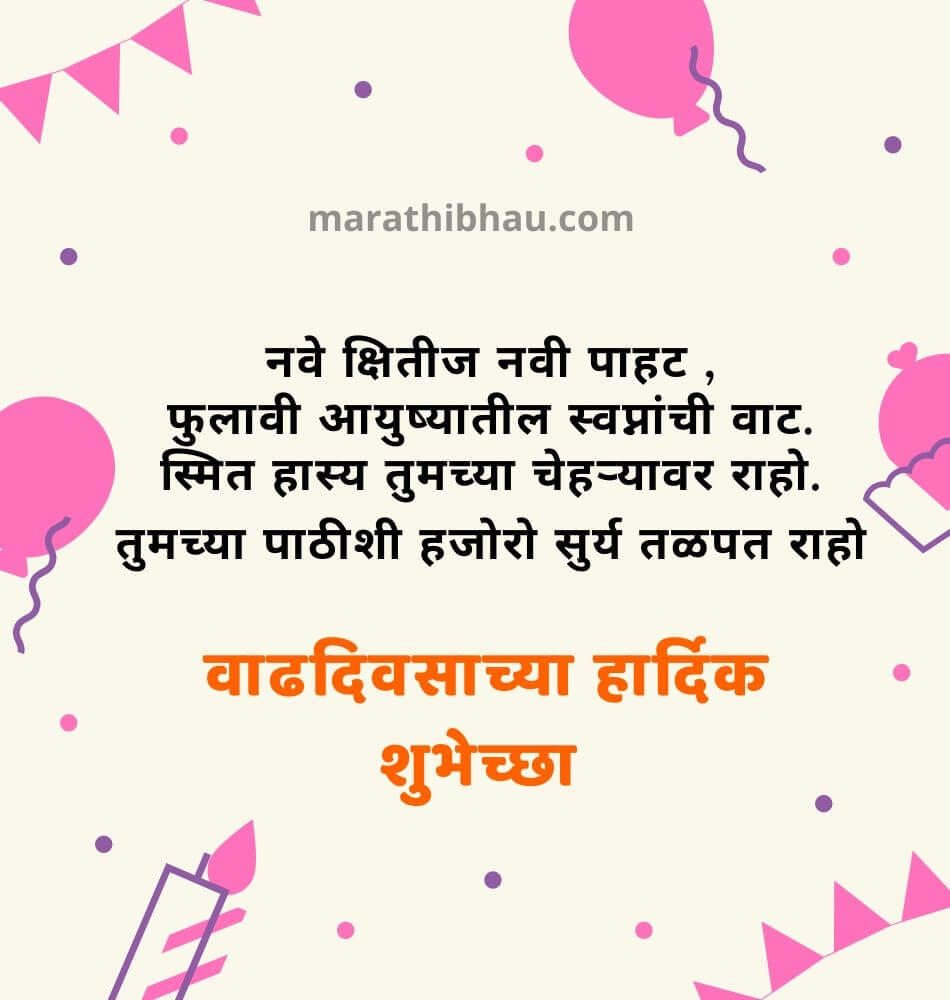 happy birthday wishes marathi